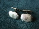Antique Cuff Links Silver Tone
