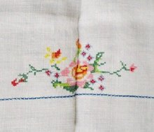 Embroidered Tea Tablecloth