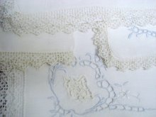 Set of 4 Napkins Lace / Cutwork/ Embroidery