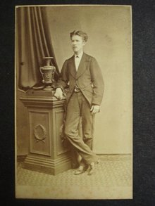 Victorian Cabinet Card Photo Young Gent