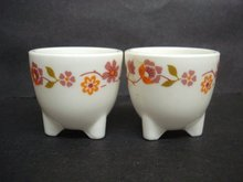 Special Footed Vintage Egg Cups Pair Made in France