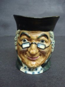 Antique Character Jug by Marutomo Ware