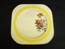 Wood's Floral Plate Ivory Ware