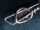 Sterling and Shell Tie Clip