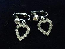 Sherman Rhinestone Earrings Clip Style