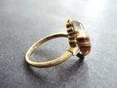 10K Gold Ring Ribbon Agate
