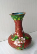 Very Pretty Miniature Cloisonne Vase