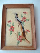 Folk Art Picture Water Colour / Feathers
