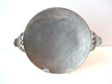 Pewter SALVER Hand Hammered