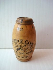 Figural Needle Case Barrel