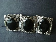 Chunky Antique Bracelet Silver tone