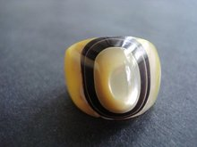 Luscious Large Ring Genuine Mother of Pearl