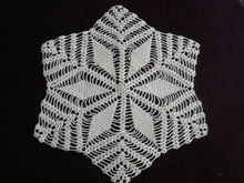 Geometric Style Doily Hand Made Lace