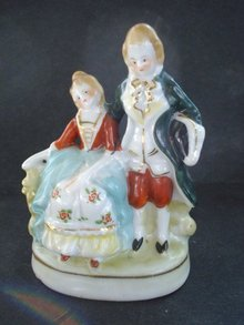 Antique Double Figurine