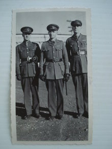1940 Real Photo Officers in Uniform