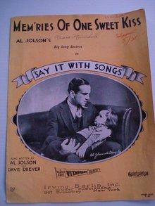 Al Jolson's Memories