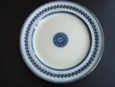 Art Deco Plate Flow Blue