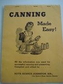 Vintage Canning Book