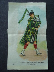 Cigarettes Silk Piper 48th Highlanders