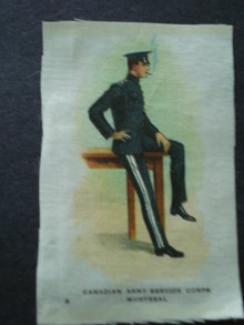 Cigarettes Silk Canadian Army Service Corps