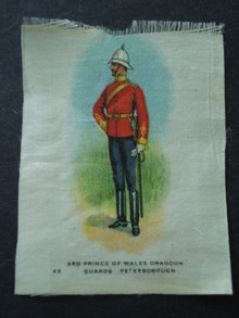 Cigarettes  Silk 3rd Prince of Wales Dragoon Guards