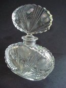 Perfume Bottle Deep Cut Crystal