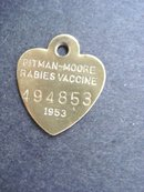 Rabies Vaccine Brass Tag