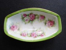 Antique Condiment Dish Floral