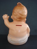 Figural Saving Bank Cute Celluloid Baby Boy
