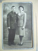 1945 Photo Soldier and Young Lady