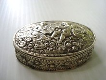 Sterling Oval Box