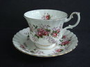 Cup and Saucer  Lavender Rose