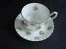 Vintage Cup and Saucer Forget Me Not Rose