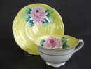Beautiful Vintage Cup and Saucer Hand Decorated