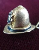 3D Sterling  Nuvo Charm Firemans Hat