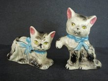 Figural Kittens Salt and Pepper Shakers