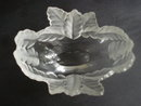 Lalique France Bowl  Oval Crystal Frosted