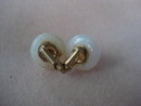 Fantastic Vintage Earrings Moonstone Like Clip Style