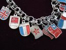 Unique Charm Bracelet International Flags