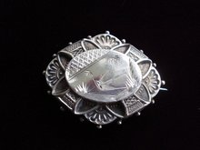 Victorian Sterling Brooch Pin