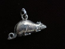 Charming Silver Mouse Charm