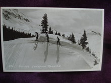 Real Photo Postcard Ski-ing Canadian Rockies