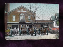 1907 Real Photo Postcard Fire Station