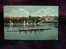 Real Photo Postcard Thames River London Ont