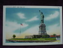 Linen Postcard Statue of Liberty