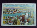 Collectible Linen Postcard Brooklyn Skyline New York
