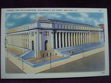 Collectible Linen Postcard Post Office Bldg New York