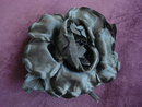 Black Satin Rose  for Dress or Millinary