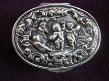 Victorian Sterling Patch Box Oval