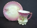 Antique Demitasse Set  Pink Luster